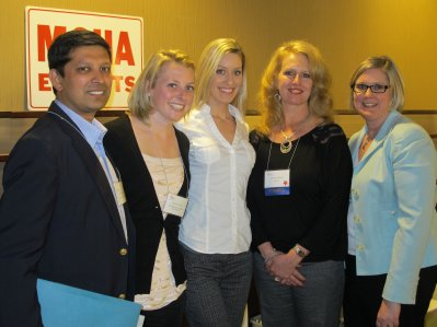 l-r: Rahul Shrivastav, Katelyn Cook, Laura Hodor, Deanna Klein, and Katie Strong, MSHA 2012.